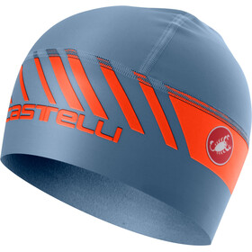 Castelli Arrivo 3 Thermo Skully Mütze light steel blue/orange